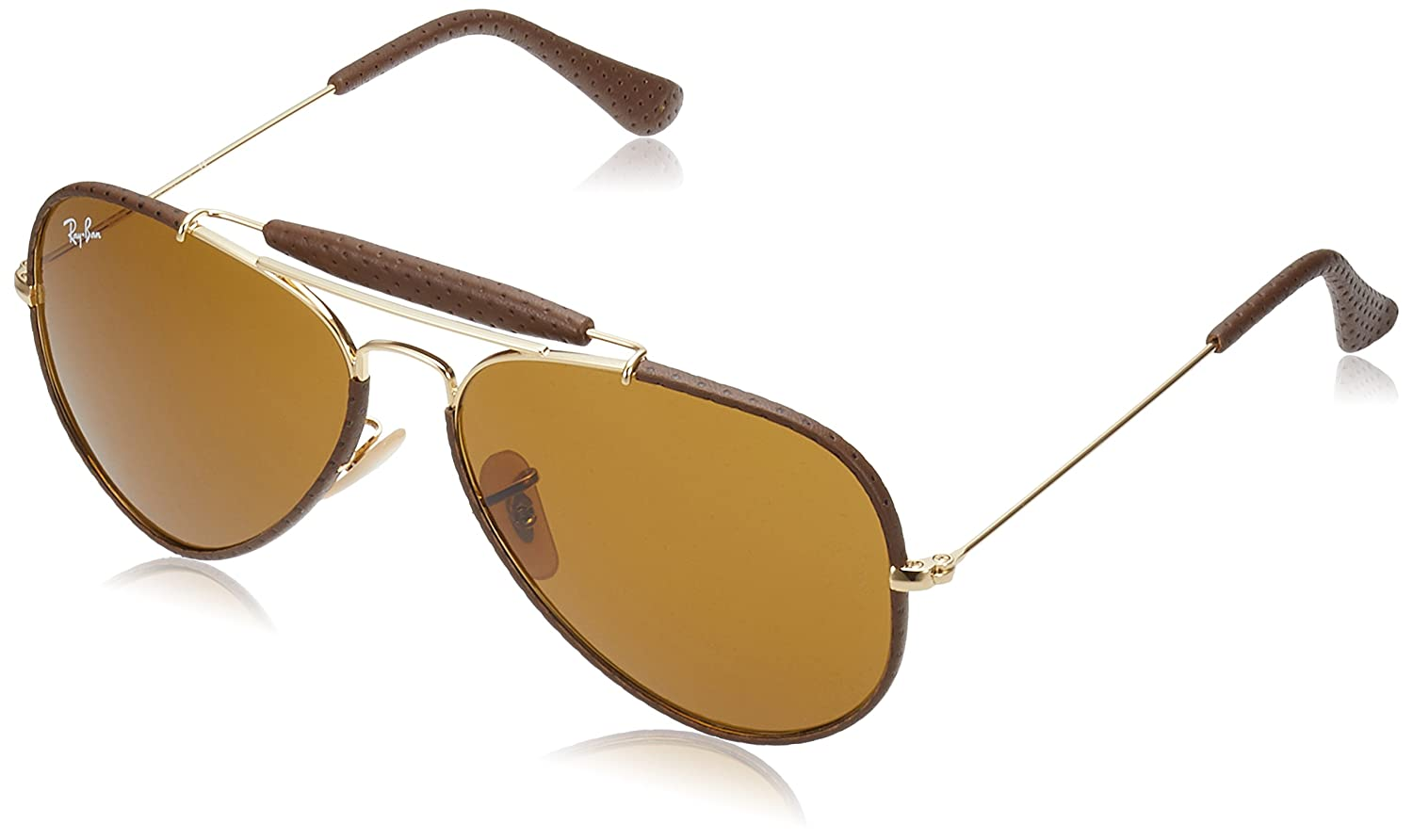 5ce3d7d763a1 Ray-Ban UV Protected Aviator Men's Sunglasses - (0RB3422Q904158|57|Brown  Color): Amazon.in: Clothing & Accessories