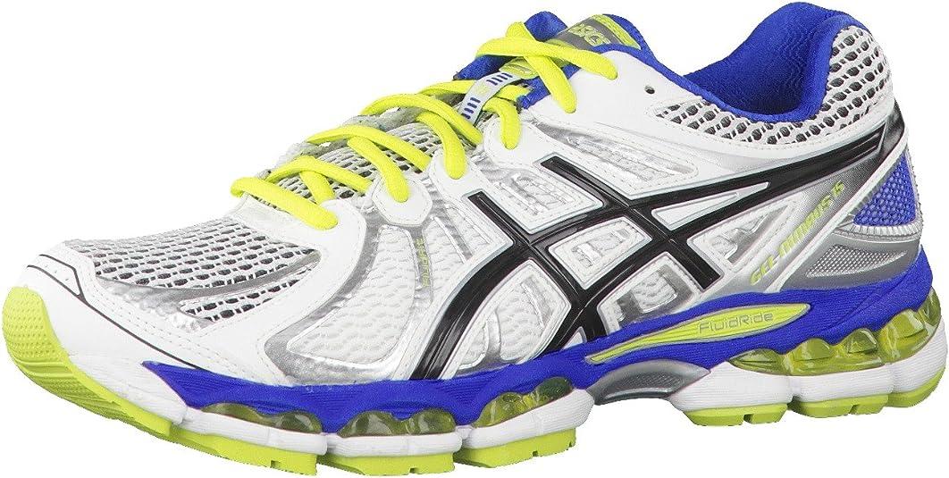 Asics Gel Nimbus 15 - Zapatillas de Running para Hombre, Color Blanco/Negro/Verde, Talla 42: Amazon.es: Zapatos y complementos
