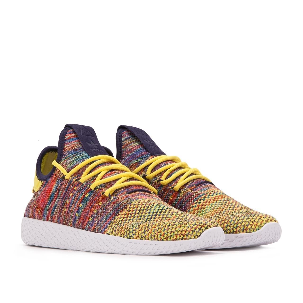adidas Men's Pw Tennis Hu Sneaker B074B5S7T2 6 D(M) US Semi Frozen Yellow / Noble Ink-white