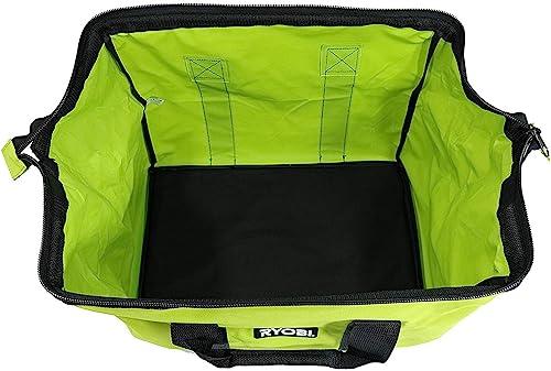 Ryobi 18in x 12in x 12in Contractors Heavy Duty Green Tool Bag Renewed