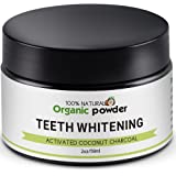 Activated Charcoal Teeth Whitener Safe Teeth Whitening Powder,100% Natural Coconut Carbon Powder—Whiten Teeth Stains from Coffee,Cigarette,Wine—Mint Flavor,Works Better With Charcoal Toothpaste