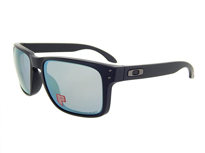 5b67b3bbf8 Image Unavailable. Image not available for. Colour  Oakley Holbrook  Polarized 9102-50 Matte Black Emerald Iridium Polarized Sunglasses
