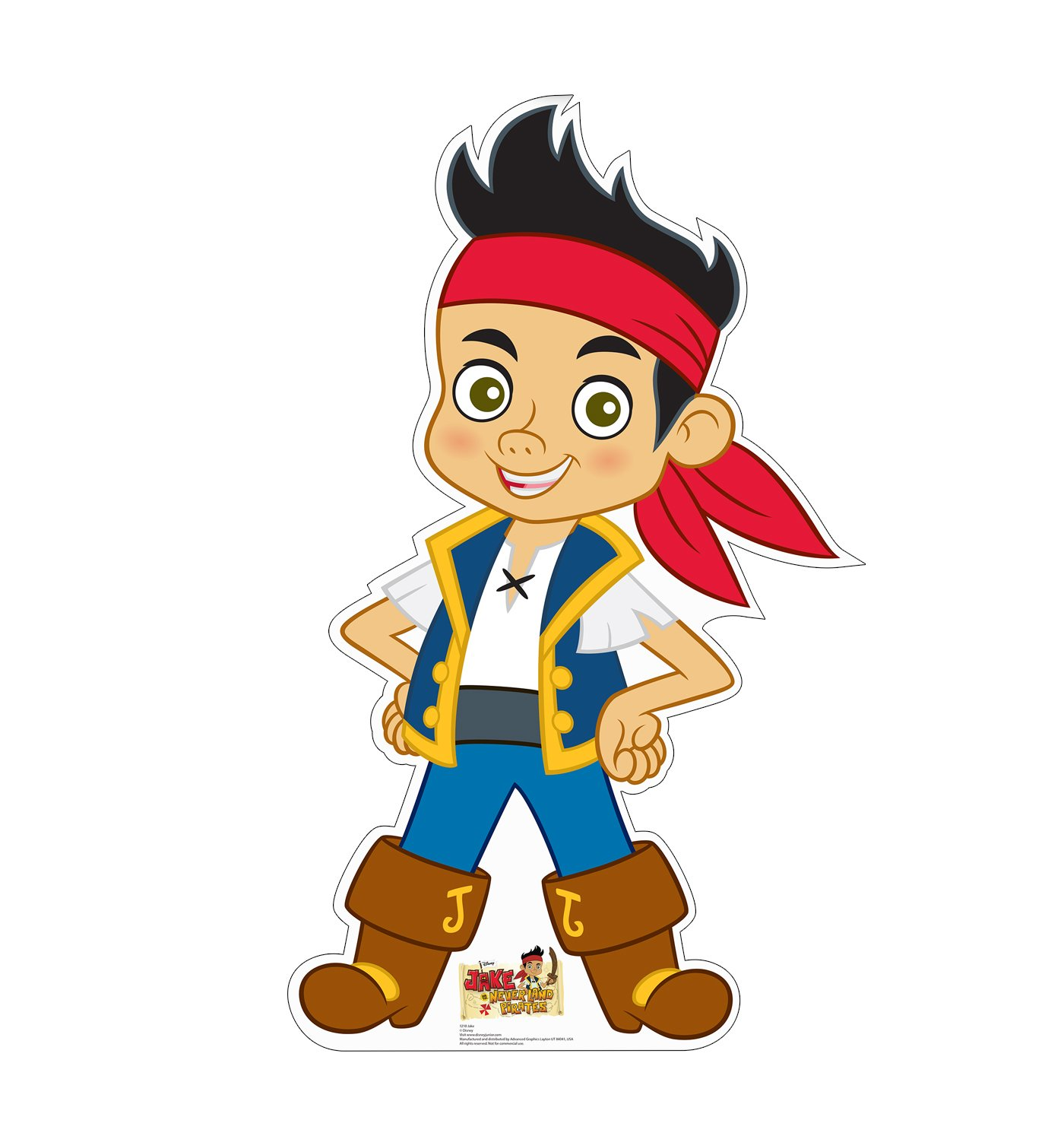 Advanced Graphics Jake Life Size Cardboard Cutout Standup - Disney Junior's Jake and the Never Land Pirates
