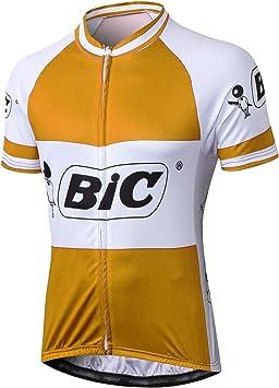 Alpediaa Maillot Ciclismo Hombrs,BIC Naranja Maillots de Bicicleta Conjunto de Jersey de Manga Corta Top MTB Jersey Manga Corta Naranja ESBICCHENJY-1: Amazon.es: Deportes y aire libre