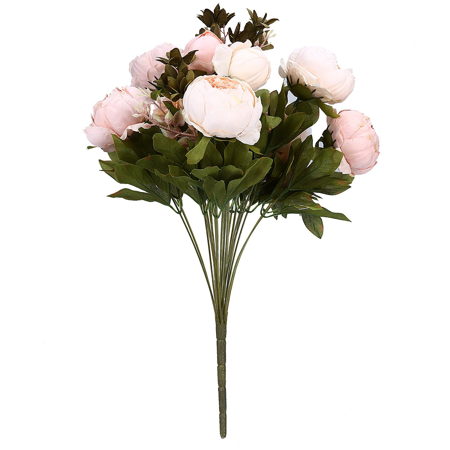 Niceeshoptm european style 1 bouquets artificial peony silk niceeshoptm european style 1 bouquets artificial peony silk flowers home wedding decorationlight pink amazon kitchen home izmirmasajfo Images
