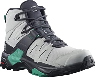 Salomon Women's X Ultra 4 MID GTX W Hiking Shoe, Lunar Rock/Ebony/Mint Leaf