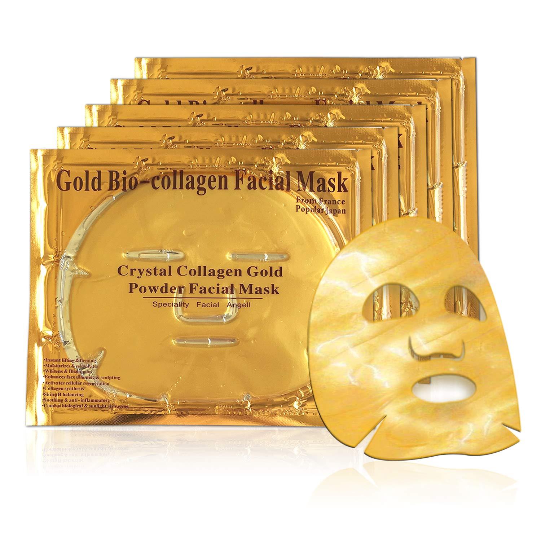Mascarilla hidratante facial de oro 24k y colageno