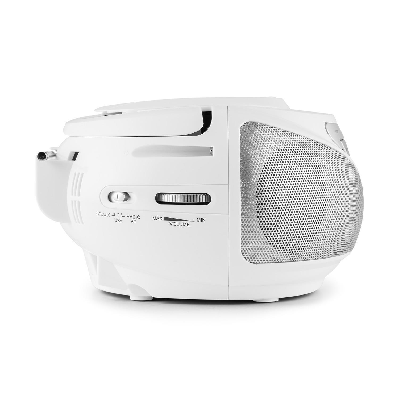 oneConcept - Reproductor de CD Groovie BK con Bluetooth, apto para MP3, negro