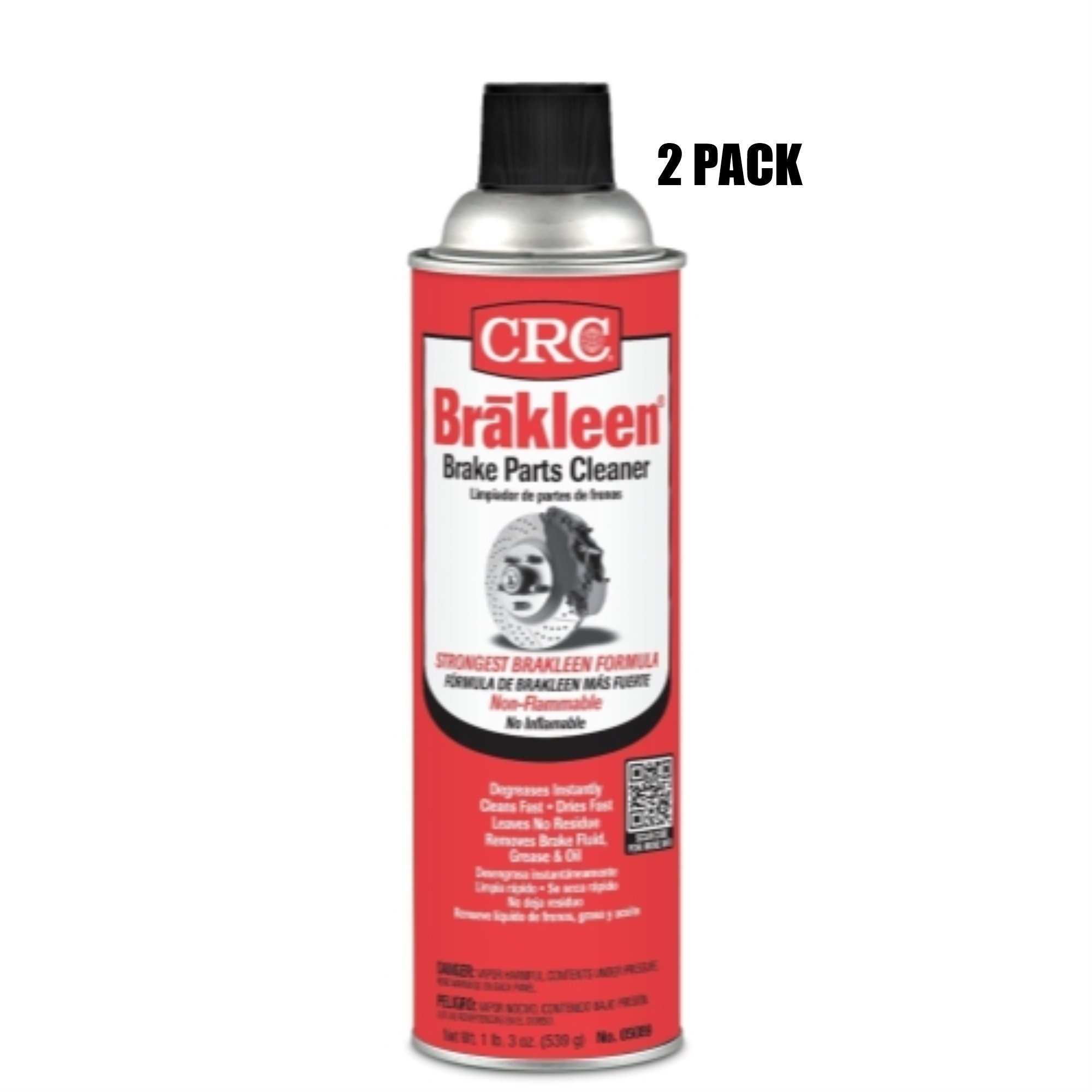 CRC Brakleen Brake Parts Cleaner - Non-Flammable (2 Pack)