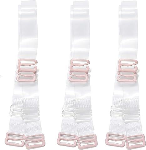 1 Roll Sqxaldm Transparent TPU Bra Straps Adjustable Elastic Transparent Bra Straps Transparent Bra Straps Thin Clear Bra Straps Adjustable Detachable Transparent Transparent Elastic Bra Strap