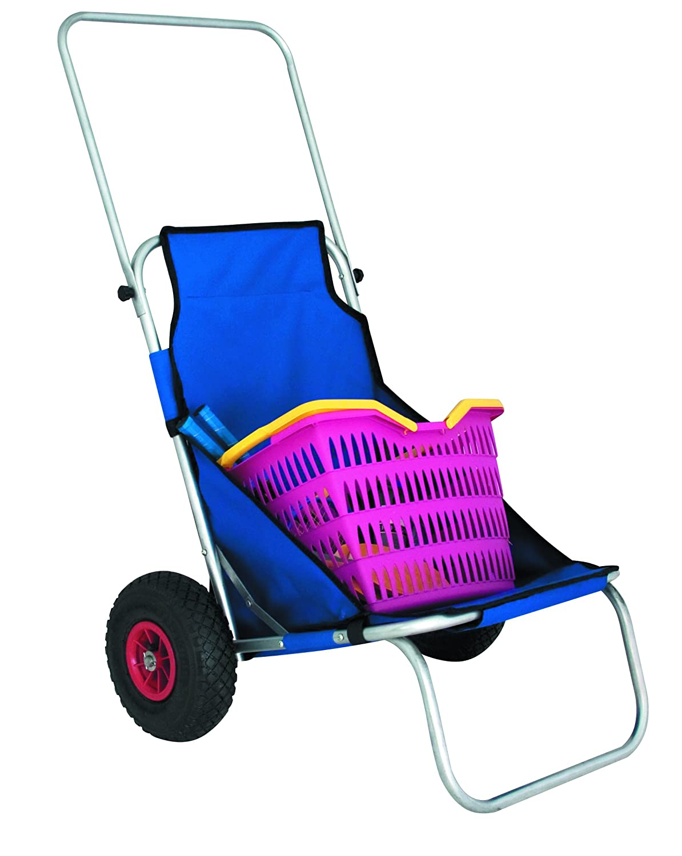 Carro de playa playa de remolque, carro de playa plegable con ruedas neumáticas NUEVO: Amazon.es: Deportes y aire libre