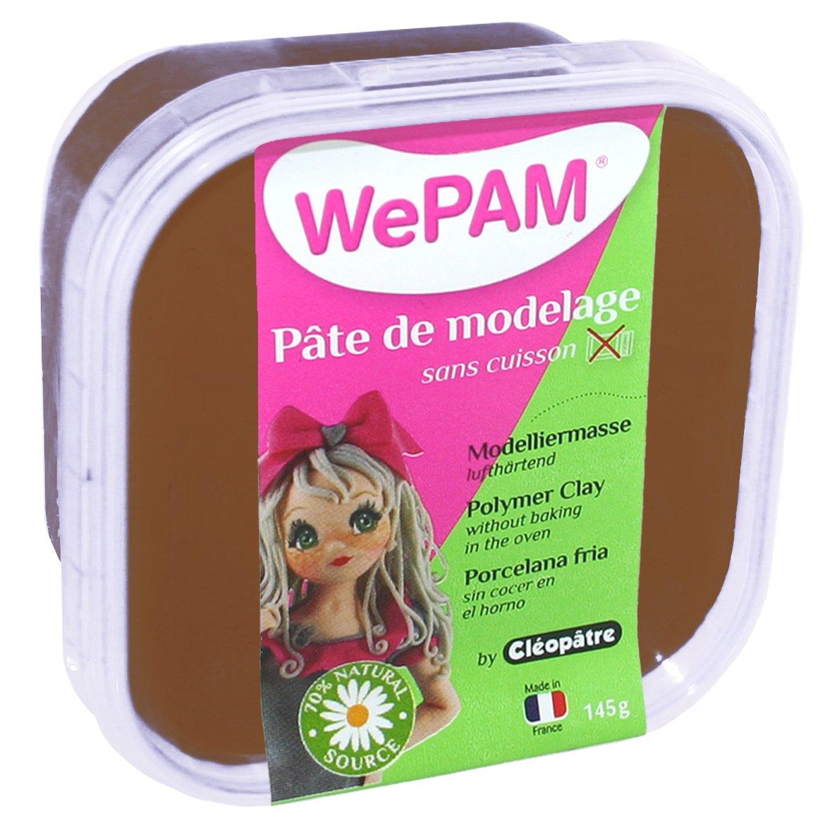 WePAM - PFW7596-145 - Pâte de modelage - Chocolat - 145 g Porcelaine à modeler