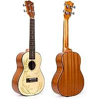 Kmise Ukulele 23 Inch Concert Ukelele Solid Spruce Hawaii Guitar (UK-24)
