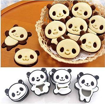 Cartoon Panda Cookies Cortador herramientas de corte Set de galletas molde para horno para tartas Chocolate