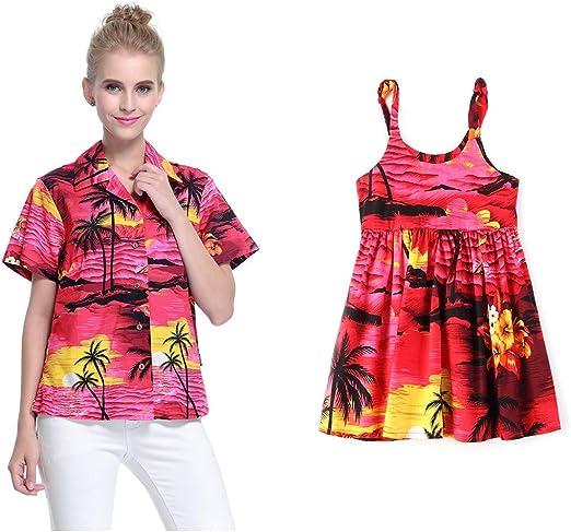 Matching Madre Hija Hawaiano Luau Equipo Señora Camisa Niña ...
