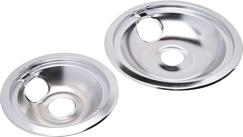Range Kleen 139402Xcd5 Style B Chrome Drip Pans, 2-Pack