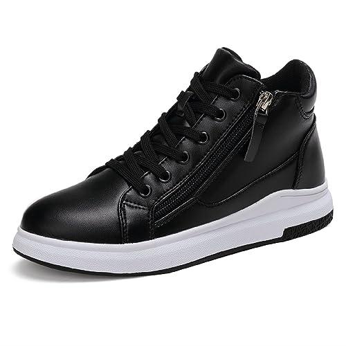 LILY999 Sneakers Zeppa Interna Scarpe da Ginnastica Sportive Donna Alte  Bianche Nere Tacco 6 cm( bdd8be55c30