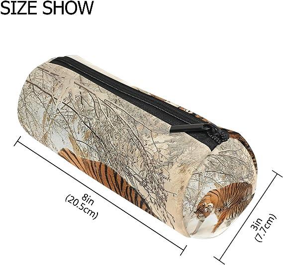 Ahomy Tiger - Estuche para lápices y cosméticos, diseño de tigre: Amazon.es: Oficina y papelería