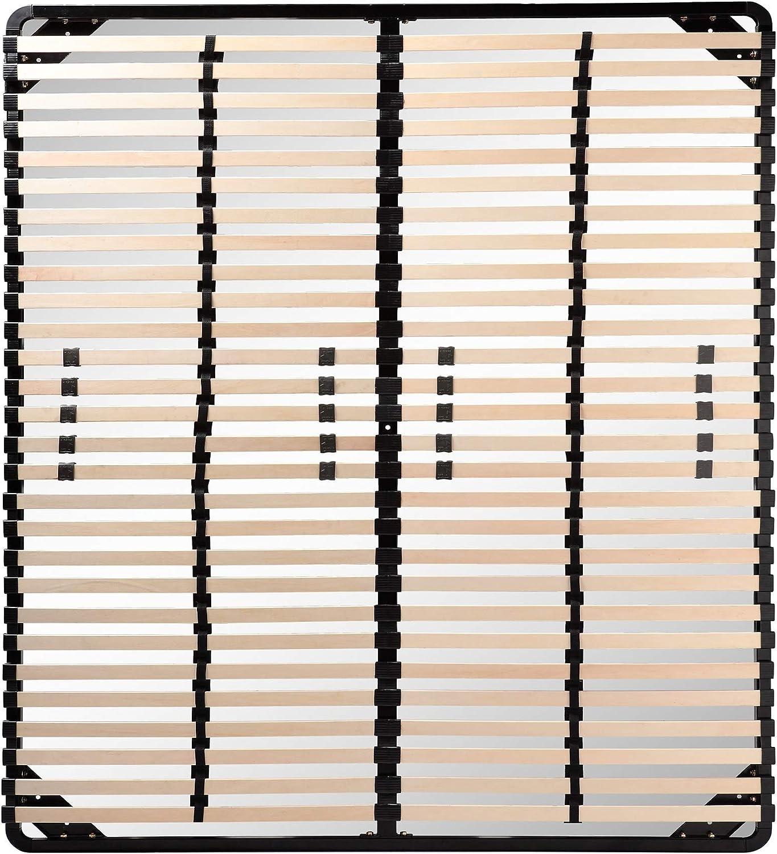 i-flair Somier/Listones 160x200 cm, Marcos de Cama - para Todos los colchones adecuados
