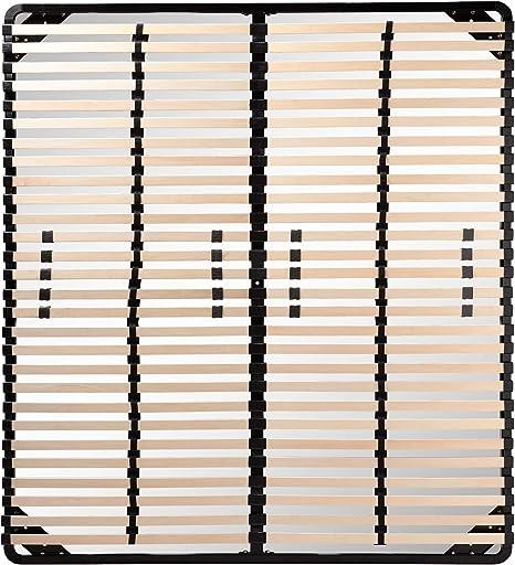 i-flair Somier/Listones 180x200 cm, Marcos de Cama - para Todos los colchones adecuados