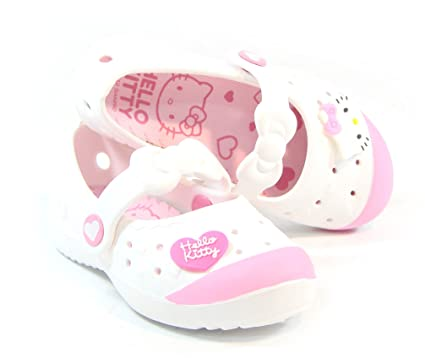 cf7ceb8ec Buy Hello Kitty BONY Lovely Kids Casual Shoes for Girls Clogs House School  White US Size 2 Online at Low Prices in India - Amazon.in