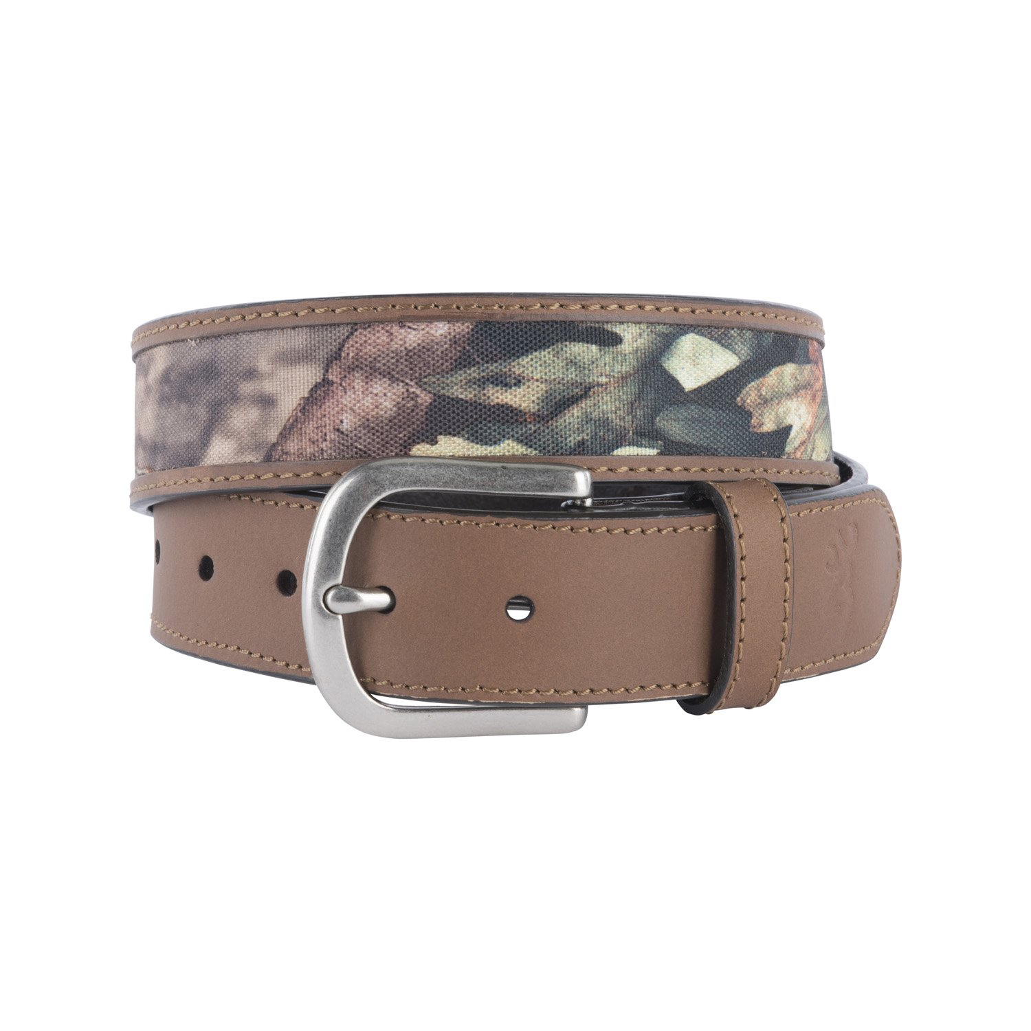 Brown//Mossy Oak Country BBE101000.38 SPG 38 Signature Products Group Browning Mens Leather Tab Belt