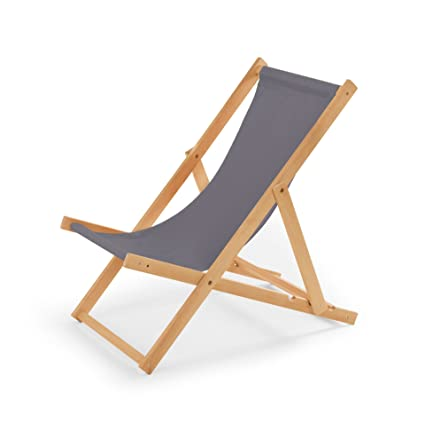 Liegestühle Aus Holz.Gartenliege Aus Holz Liegestuhl Relaxliege Strandstuhl Grau