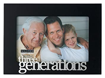 malden international designs expressions three generations picture frame 4x6 black
