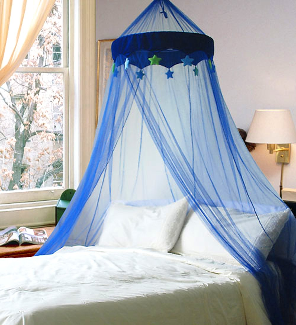 Mosquito Net Blue In the Night Star Bed Canopy