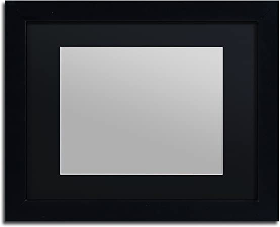 Trademark Fine Art Heavy Duty 11x14 Black Picture Frame With 8x10 Black Mat Amazon Com