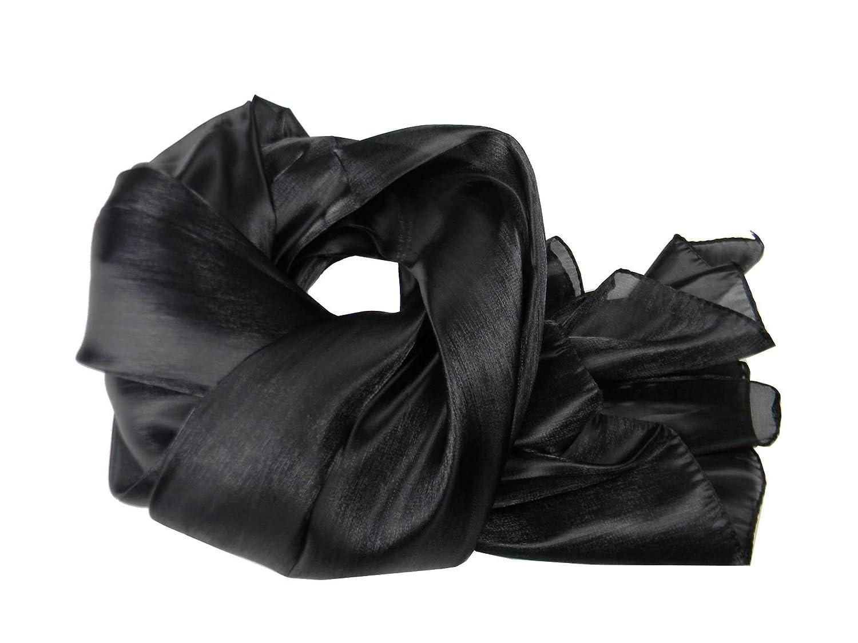 Stola cerimonia donna scialle elegante stole coprispalle a scelta raso lucido colore colour nero black Swarz noir negro 6291_1-9