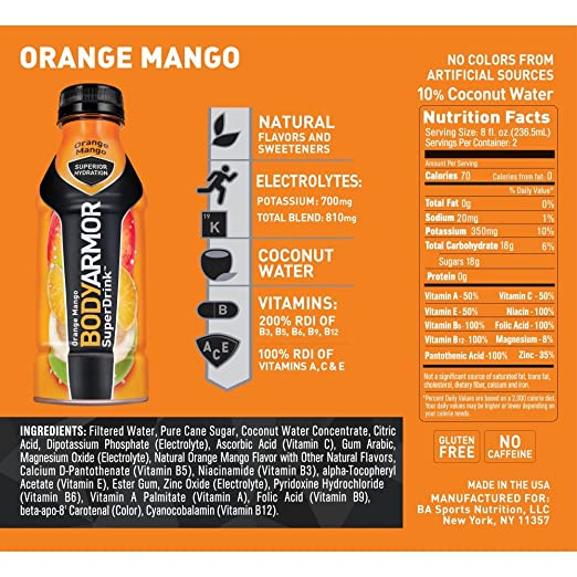 Amazon Bodyarmor Superdrink Sports Beverage Strawberry Banana