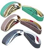 "24 Pcs Knife Sharpener Sanding Belts, 3/4"" x 12"" Replacement Belt Kit for the Ken Onion Edition Work Sharp Knife & Tool…"