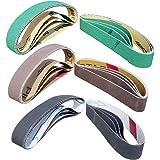 "24 Pcs Knife Sharpener Sanding Belts, 3/4"" x 12"" Replacement Belt Kit for the Ken Onion Edition Work Sharp Knife & Tool Sharp"