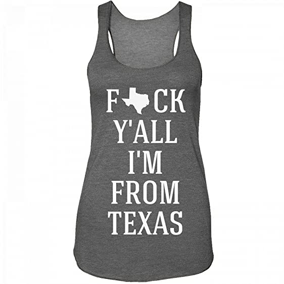 Fuck Y'all I'm From Texas: Junior Fit Eco Jersey Racerback Tank