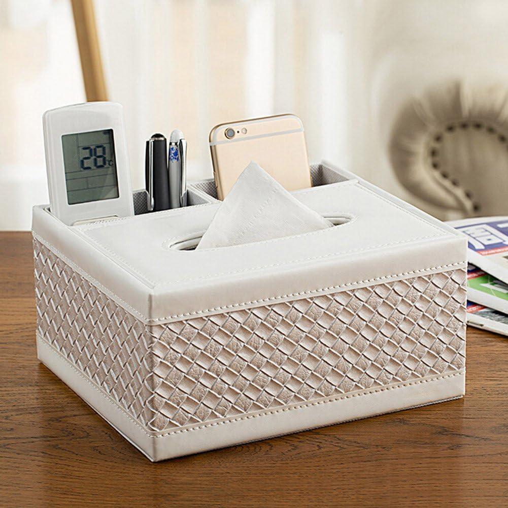 Cosanter Schreibtisch-Organizer multifunktional Stiftehalter Taschentuchspender Halterung f/ür Fernbedienung Dekorativ nur Box