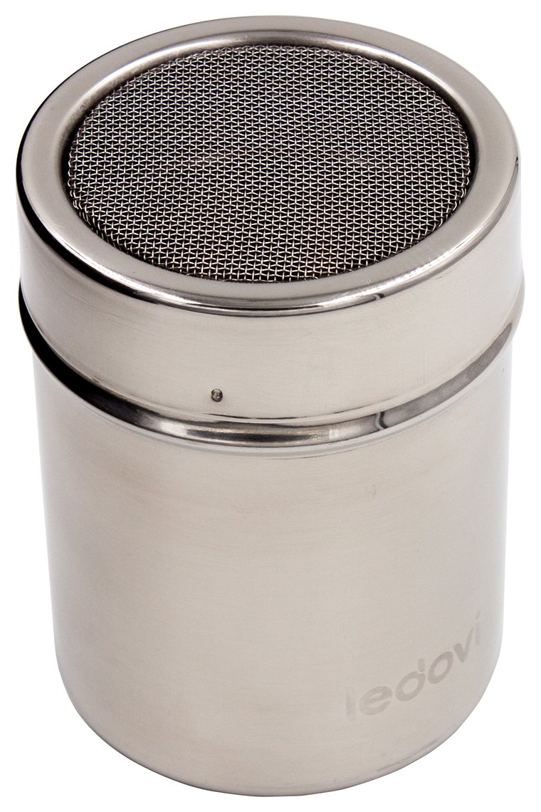 ledovi 4 Ounce Premium Stainless Steel Sugar Shaker with Lid - Professional Results with Minimum Effort SYNCHKG127902
