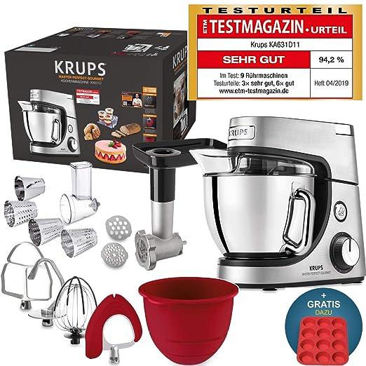 Robot de cocina Krups Premium 17 pzs., bol acero inox. 4,6 l ...