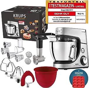 Robot de cocina Krups Premium 17 pzs., bol acero inox. 4,6 l, bol ...