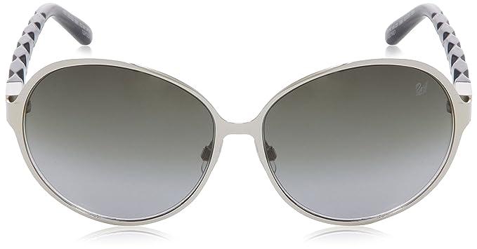 Swarovski Women's SK0023 Oval Sunglasses, 16B Shiny Palladium:  Amazon.co.uk: Clothing