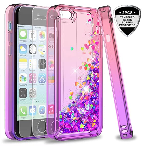 Amazon.com  iPhone 5C Case with Tempered Glass Screen Protector for ... 3998b6755
