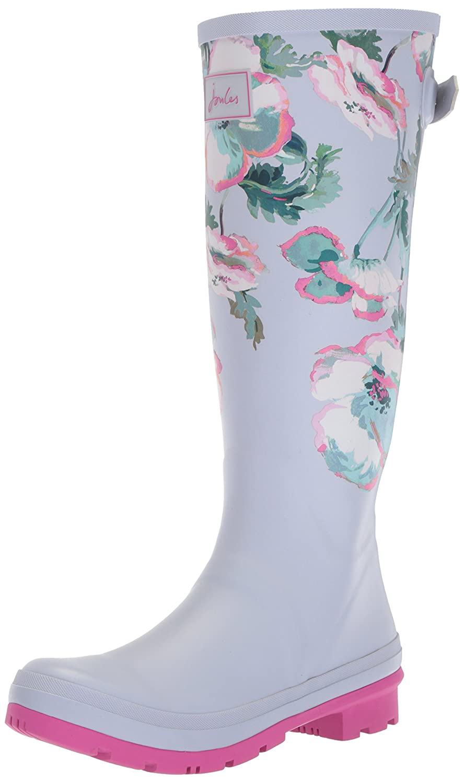 Joules Welly Print, Botas de Agua para Mujer Gris (Grey Poppy)