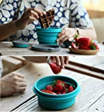 LAOPAO Collapsible Silicone Bowl with Lid 1000ML