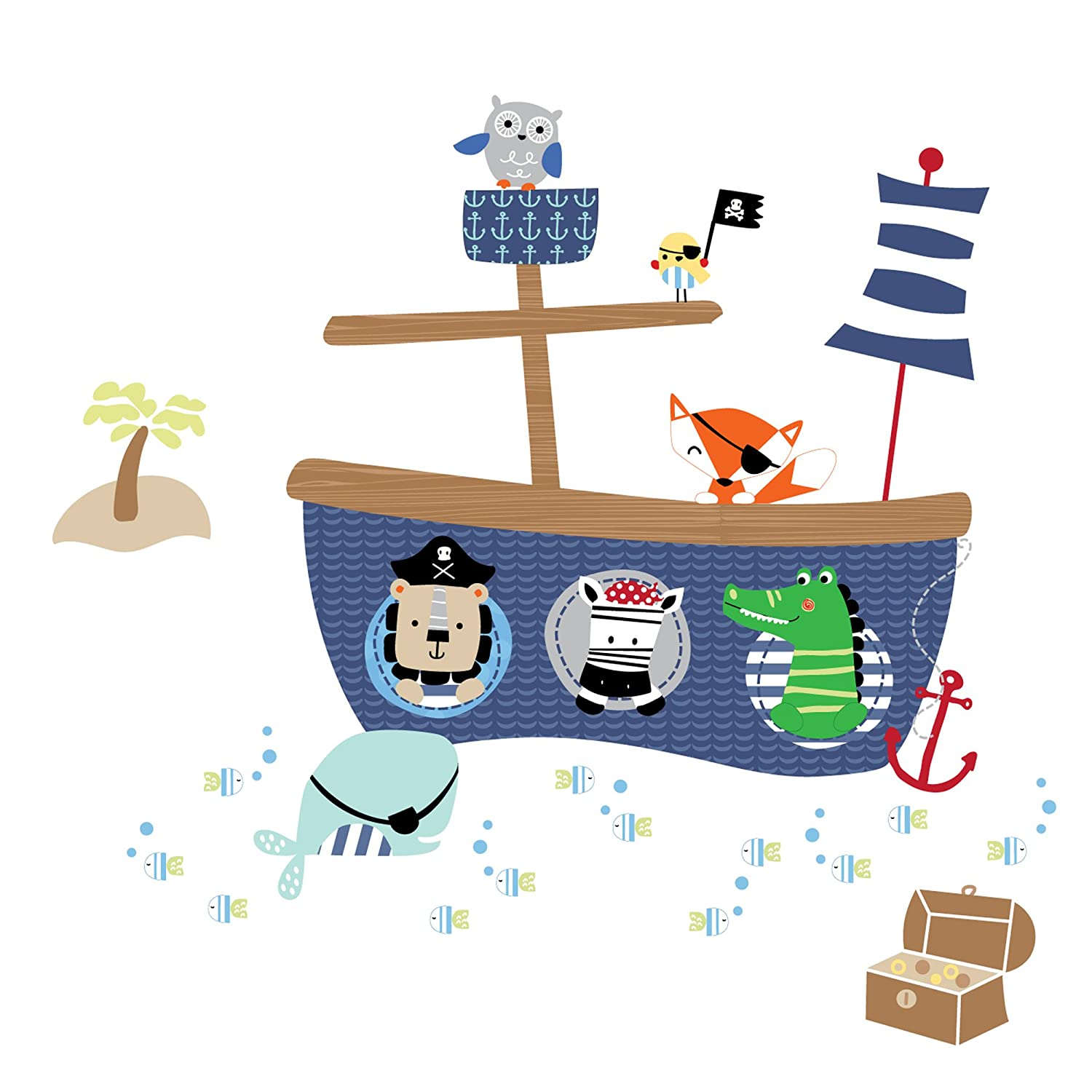 Amazon lambs ivy little pirates wall appliques baby amipublicfo Gallery