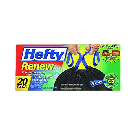 Amazon.com: Hefty Renew reciclado Kitchen & bolsas de basura ...