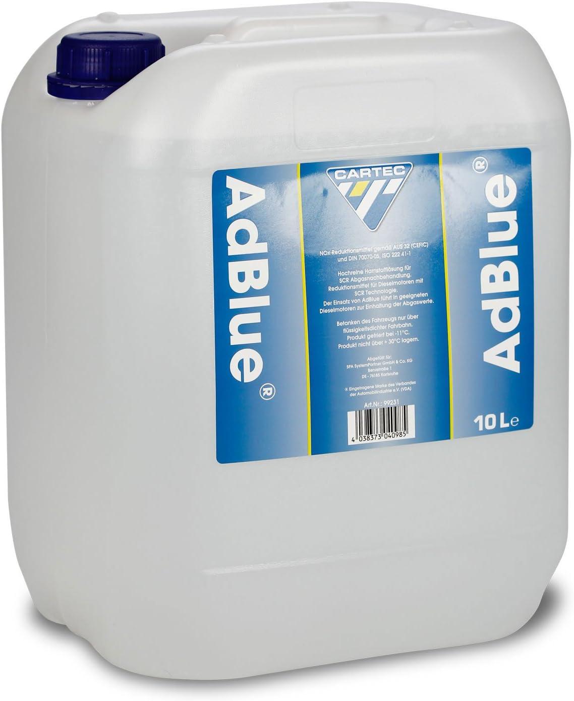 Cartec 9923 AdBlue Ur/ée Pure pour Le Traitement des gaz d/échappement