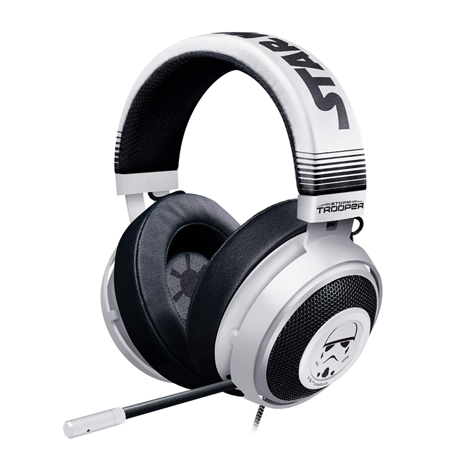 Razer Kraken Gaming Headset: Lightweight Aluminum Frame - Retractable Cardioid Mic - for PC, PS4, Nintendo Switch - 3.5 mm Headphone Jack - Stormtrooper Limited Edition