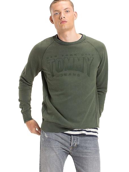 Tommy Hilfiger TJM GD Logo CN HKNIT - Sudadera SIN Capucha para Hombre (M)
