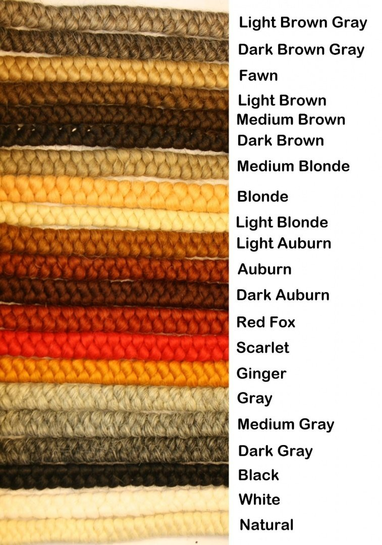 Crepe Wool Hair- Dark Brown Color for Doll Making or Theatrical Uses (False Beard or Mustache) All Cooped Up darkbrownch