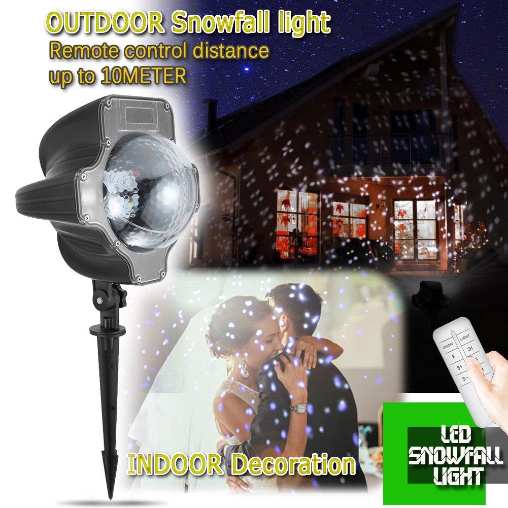 Efecto de Luces Led iEZok Copo de Nieve Led Decorativo Jardin IP
